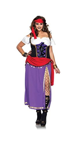 [Traveling Gypsy Costume - Plus Size 3X/4X - Dress Size 22-26] (Gypsy Clothing Costume)