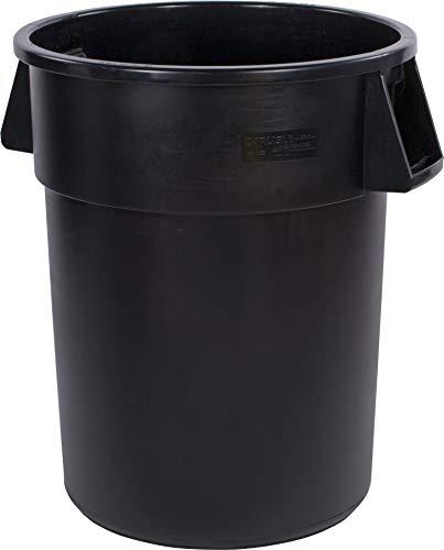 Carlisle 34105503 Bronco Round Waste Container Only, 55 Gallon, Black (Renewed) (55 Gallon Square)