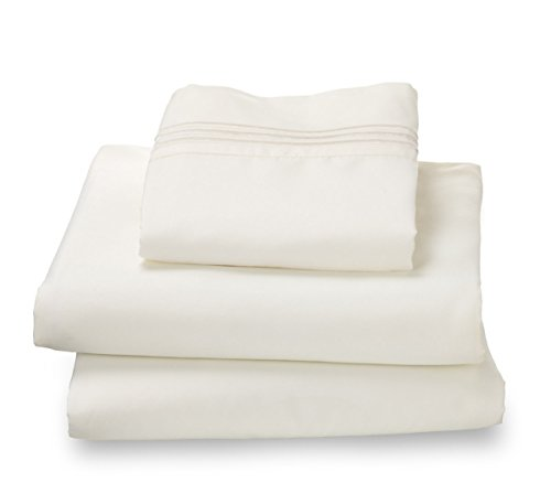 Where the Polka Dots Roam 100% Ultra Soft Microfiber Easy Care Luxury Sheet Set, Twin XL, White