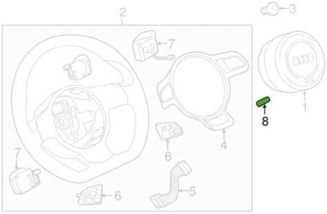 Emblema Q5 8R para volante SQ5 8R0419685