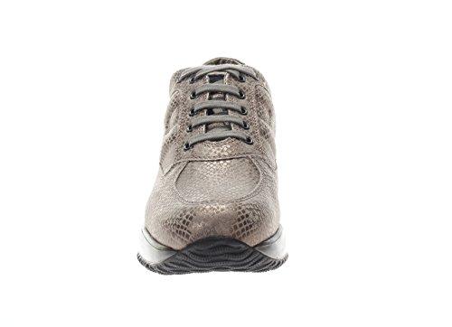 Hogan Donna Sneaker HXW00N00010CR0C407 Interactive Scarpa Allacciata Palude