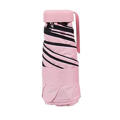 LiboboFlat Lightweight Umbrella Parasol Portable Folding Sun Umbrella Mini Umbrella (Pink): Health & Personal Care
