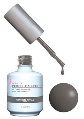 Lechat Perfect Match - Concrete Jungle PMS061 .5 oz. free lacquer DUAL SET by Jubujub