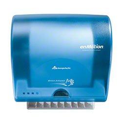 Georgia Pacific Enmotion 59497 Impulse 8 Automated Touchless Paper Towel Dispenser, Splash Blue