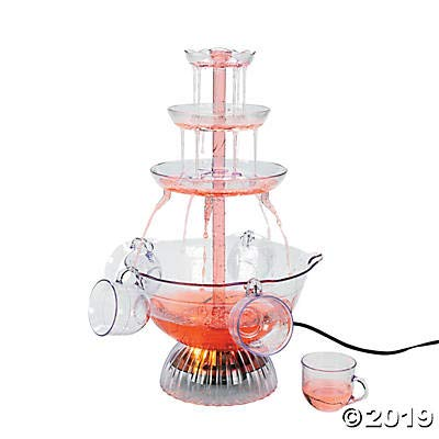 Light-Up Drink Fountain with Cups - Lighted Punch Fountain
