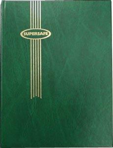 Stamp Album Stockbook by Supersafe 9'' x 12'' W 4/8 Green Stamp Album