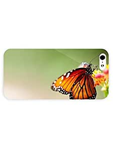 3d Full Wrap Case For Ipod Touch 5 Cover Animal Butterfly On Flower54