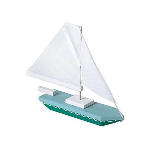 Darice Unfinished Sailboat Wood Craft Kit - 7in. X 6in. (Unfinished When Fully Assembled) -
