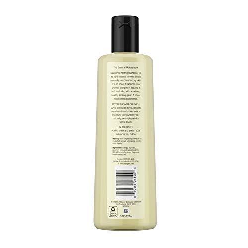 Neutrogena Lightweight Body Oil for Dry Skin, Sheer Body Moisturizer in Light Sesame Formula, 16 fl. oz 5