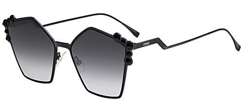 Fendi Women's Geometric Sunglasses, Black/Dark Grey, One Size
