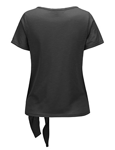 Regna X RENGA X No Bother Women's Deep V Neck Short Sleeve Loose Fit Lightweight Top