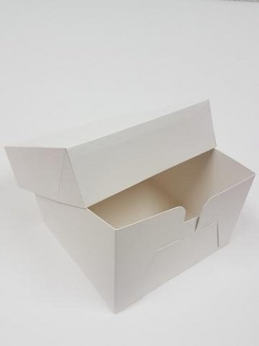 "Plain cake box 10"" x 10"" x 6"" - 5 Pack SM Trade"