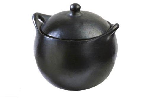 La Chamba Black Clay Soup Pot, Medium (3.5 Qt)