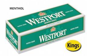 Westport Menthol King Size Cigarette Tubes (10 - Outlets Westport
