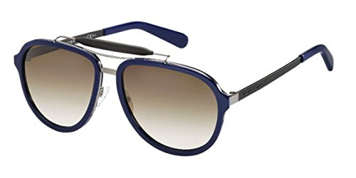 Marc Jacobs MJ592/S Sunglass-054J Blue Ruthenium Black (CC Brown Grad Lens)-57mm