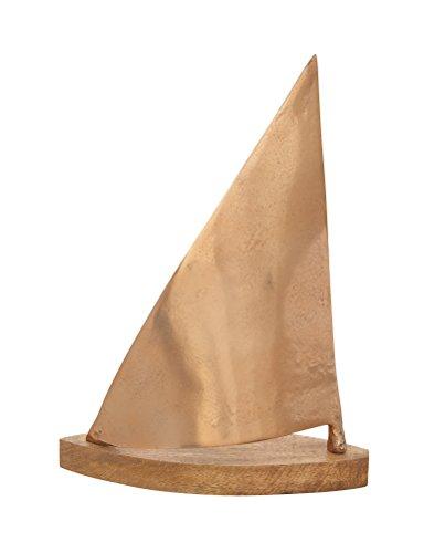 (Deco 79 37988 Aluminum Wood Copper Sailboat Home Decor Product,)