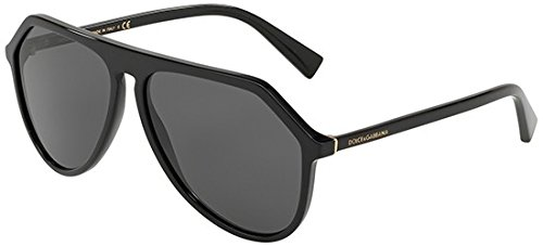 Dolce & Gabbana Men's DG4341 Sunglasses, Black/Grey, One Size (Gabbana Sunglasses Dolce &)