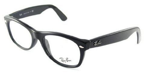 Ray-Ban RX5184F Eyeglasses Shiny Black - Wayfarer New Rx5184