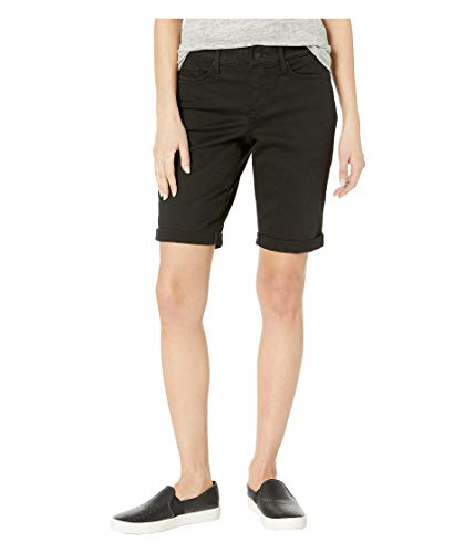NYDJ Women's Petite Briella Roll Cuff Jean Short, Black 12P ()