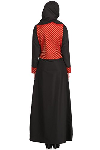 Wear Schöne Eid Schwarz AY 510 Burqa Crepe Party MyBatua und Islamic Abaya Kleid 61dqX