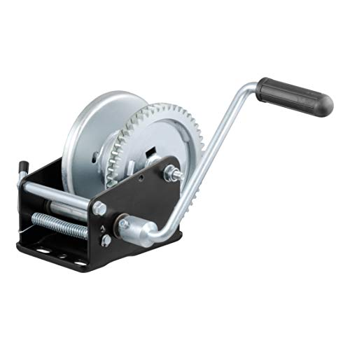 (CURT 29427 Manual Hand Crank Boat Trailer Winch, 1,700 lbs. Capacity)