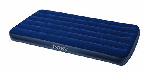 Intex Foam Bed - Intex Classic Downy Air Bed Royal Blue, Twin Size