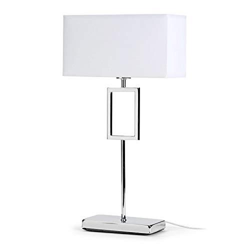 Mathias ILA5195142 Lampe /à Poser Blanc 40 W M/étal E14