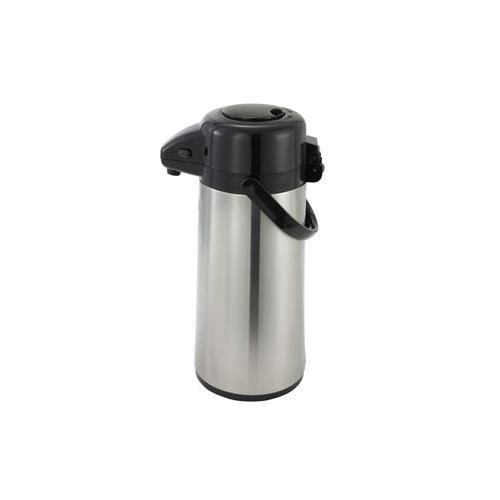 Winco 2.2 Liter Glass Lined Airpot, Push Button by Winco (Decanter Winco)