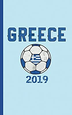 "Greek Flag Soccer Ball Journal - Notebook: Patriotic Greece DIY Writing Note Book - 100 Lined Pages + 8 Blank Sheets, Small Travel Size 5x8"" (Soccer Gear Gifts Vol 12)"