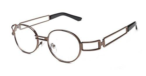 lunettes polarisées rond style en cercle de vintage Lumière D soleil métallique retro Lennon du inspirées rqrgwf