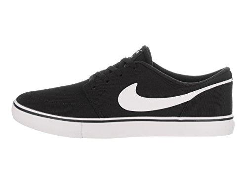 Zapatillas de skate Nike Portmore II Solar Cnvs Black / White 10 hombres EE. UU.