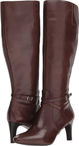 Lauren Ralph Lauren Women's Elberta-W Fashion Boot, Dark Brown, 9 B US