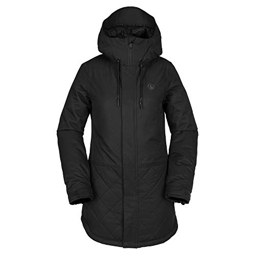 Volcom Women's Winrose Insulated Snow Jacket, Black, Small