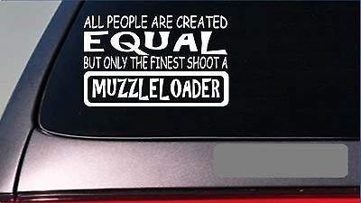 Muzzleloader Equal Sticker 8' Vinyl Black Powder Deer Hunting Powder Horn