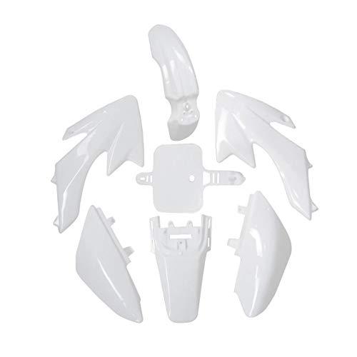 (TDPRO Plastic Fairing Body Fender Kit for Honda CRF XR XR50 CRF50 110cc 125cc Pit Dirt Bike (White) )