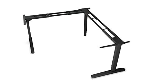 UPLIFT 3-Leg Height Adjustable Standing Desk Frame (Black) with Advanced 1-Touch Digital Memory Keypad