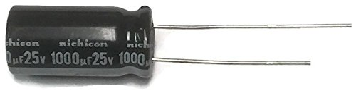 Nichicon  UVZ1E102MPD-100 Aluminum Electrolytic Capacitors - Leaded 25V, 1000uF, 10 mm x 20 mm, 20% Tolerance, 5LS (Pack of 100)