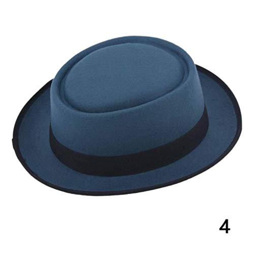 Pie Fur Pork Felt (Men Classic Felt Pork Pie Porkpie Fedora Hat Unisex Chapea Cap Black Ribbon Band Panama Hats Chapeau Femme Hats)