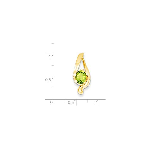 - 14k Yellow Gold 8x6mm Oval Peridot Slide. Gem Wt- 1.35ct