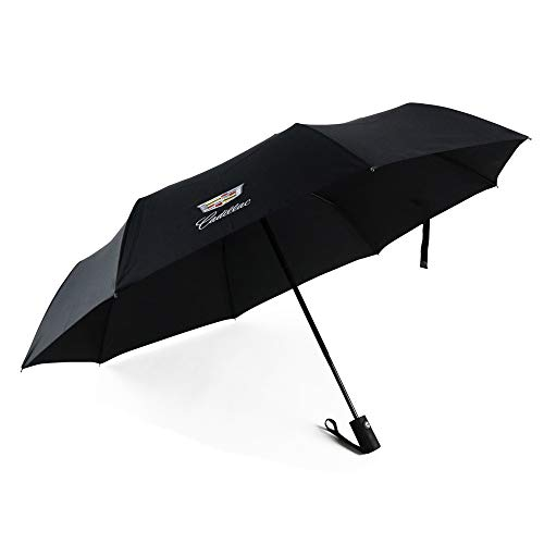 AUTO Open Large Folding Umbrella Windproof Sunshade with Car Logo for Cadillac