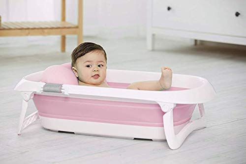 JF Mall Folding Portable Baby Bathtub (Red)