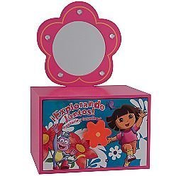 Nickelodeon Dora the Explorer Removable Mirror Jewelry Box