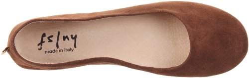 Sloop Sole NY Ballet FS Chocolate Women's Flat French Suede wTqxfIA14