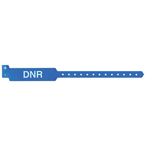 Sentry 5055-13-PDM Sentry Alert Bands Poly DNR Pre-Printed, State Standardization, 1'' x 11 1/2, Adult, Blue (Pack of 500) by Sentry