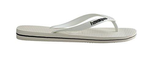 Havaianas Logo Filete White Black Flip Flops SDbI96oYY