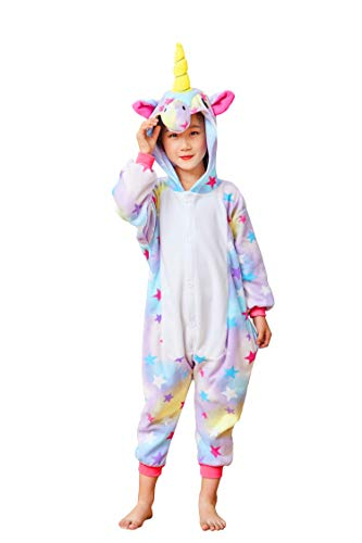 Flora Huxley Cute Unisex Childrens Onesie Star Unicorn