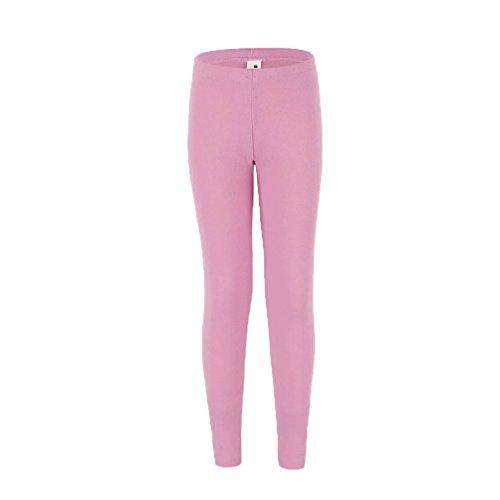 Price comparison product image Bienzoe Girl's High Tech Fiber Polypropylene Thermals Pants Pink 8/10