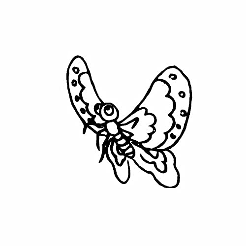 SHMAZ 11.4 Cm * 15.5 Cm Karikatuur Lichtheid Vlinder Elegante Dazzling Decal Auto Sticker Zwart/Zilver