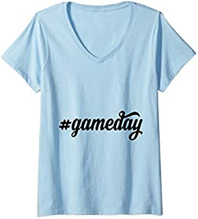 [Featured] Womens Game Day Gameday Football Hashtag Funny Football Sport Gift V-Neck in ALL styles   Size S - 5XL