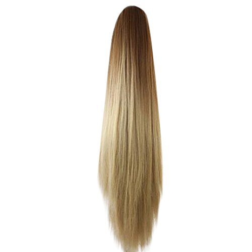 (Wig Hair For Women,DDKK New Hot Pretty Women Fashion Claw Clip Long Straight Ponytail Hair Extensions Wig Hairpiece)